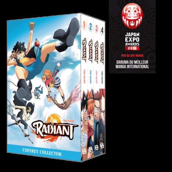 Coffret Radiant tomes 1 à 4