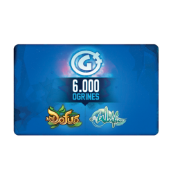 6,000-Ogrine Card (valid in the Dofus and Wakfu games)