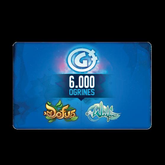 Carte de 6 000 ogrines (valable sur les jeux Dofus et Wakfu)
