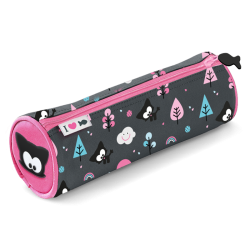 Round Bow Meow Pencil Case – Gray