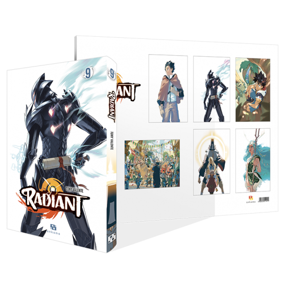 RADIANT PACK: VOL. 9 + 6-PACK OF POSTERS