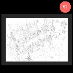 Concept art DOFUS – Catégorie 1 - 20x30 cm