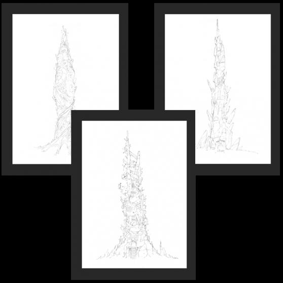 DOFUS Concept Art – Towers of the Forgotten Framed Art 3-Pack – 30 ...