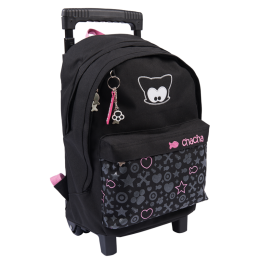 Sparkling Bow Meow Rolling Backpack