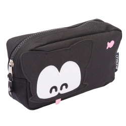 Bow Meow's Head Pencil Case - Black