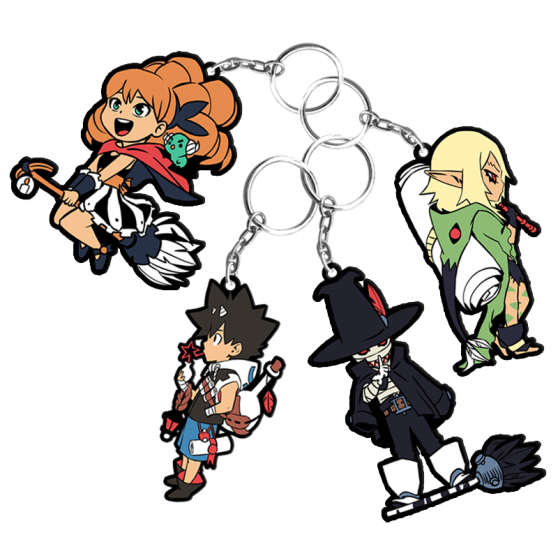 Pack of 4 Radiant keychains