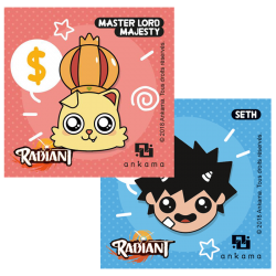 Pack of 2 Radiant pins - Seth + Master Lord Majesty