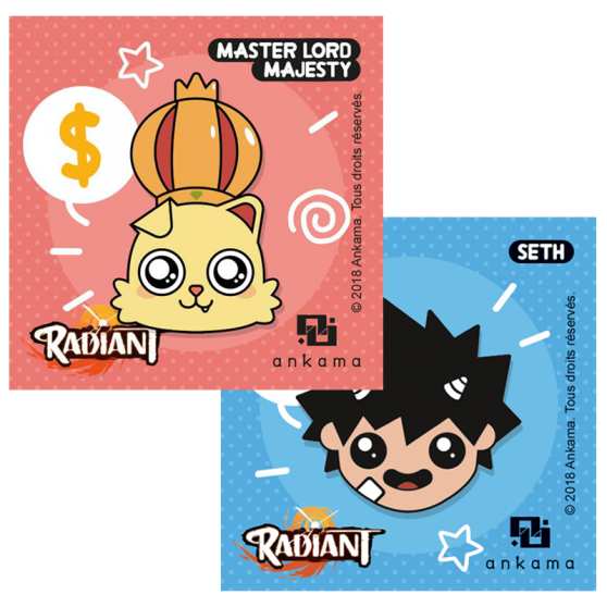 Pack 2 pin's Radiant - Seth + Master Lord Majesty