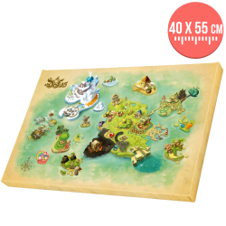 DOFUS painting - Map of the World of Twelve