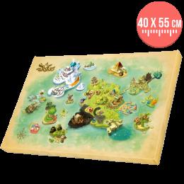 Toile DOFUS - Carte Monde des douze