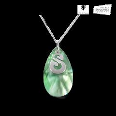 Emerald Dofus pendant in Swarovski crystal