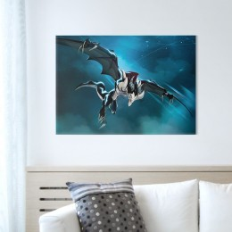 Displate Metal Poster - Draconiros (size M, 17.7 x 12.6 in)