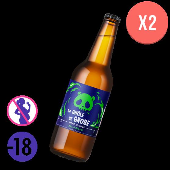 Pack Bière Blonde La Gnole de Grobe - 2 x 75 cl