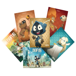 Pack of 6 posters from the DOFUS movie
